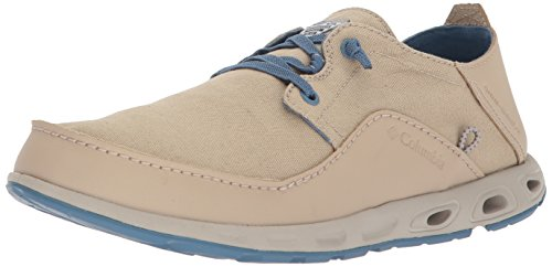 Columbia PFG Men's Bahama Vent Lace Rlxd Poly Boat Shoe, Ancient Fossil, Steel, 17