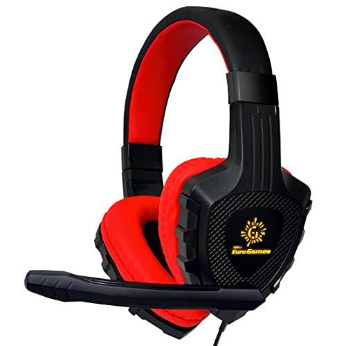 RPM Euro Games Wired Over The Ear Headphone with Mic (Red)