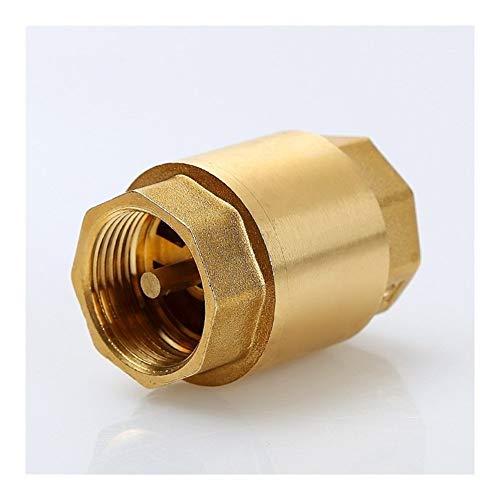 HLY Trading 1pc DN15 / DN20 / DN25 NPT Latón Rosca En-Línea de la Primavera válvula de retención de 25 mm de diámetro 200WOG for el Control de Agua (Specification : 1/2')