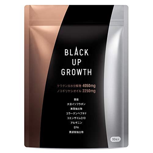 BLACK UP GROWTH ノコギリヤシ ケラチン高配合 厳選20種類の成分配合 ヘアケアサプリ 30日分