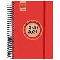 Finocam - Agenda Curso 2020-2021 E8, 120 x 171 1 Día Página Espir Label, Rojo, Español