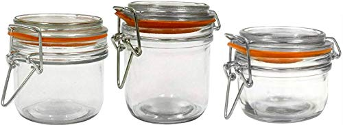 Anchor Hocking Round Glass Storage Canister Set (Mini Set of 3)