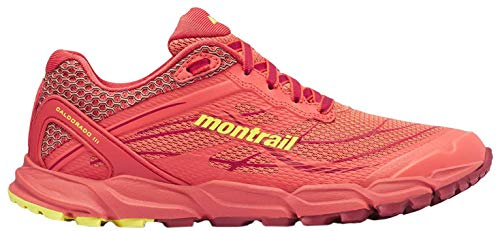 Columbia CALDORADO III, Zapatilla de Trail Running para Mujer, Naranja (Faded Peach/Acid...