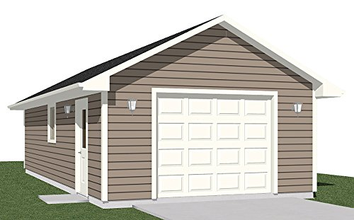 Garage Plans: One Car Garage with Extra Depth