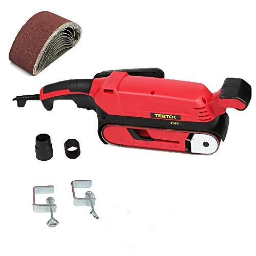 Belt Sander, Heavy Duty Electric Belt Sander 900W, Sanding Belt 75 x 533mm, with 9Pcs Sanding Belt