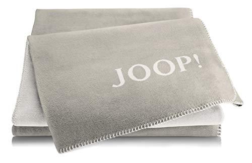 Joop!® Uni-Doubleface I flauschig-weiche Kuscheldecke Sand-Pergament I Wohndecke aus Baumwollmischgewebe in beige I Tagesdecke 150x200cm   nachhaltig produziert in Deutschland I Öko-Tex Standard 100