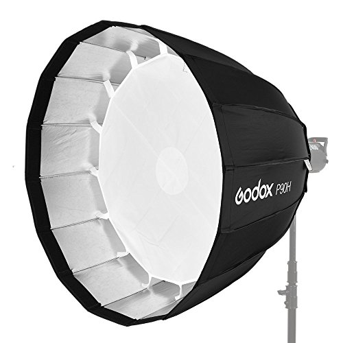 Godox P90H 90 cm Deep Parabolic Softbox with Bowens Mount Adapter Ring for Aputure