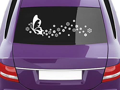 Graz Design sticker achterruit bloemen, auto plakfolie bloemen bloemen bloemen 093, antraciet