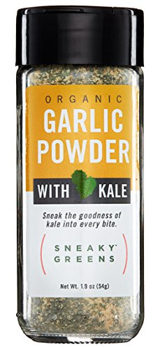 Organic Garlic Powder with Organic Kale by Sneaky Greens (1.9 oz) | Garlic & Kale Powder | Better-for-You Gourmet Spices Blended with Nutrient-Rich Kale | Healthy Spices Perfect for Everyday Use