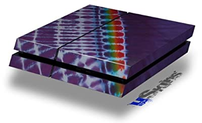 Tie Dye Alls Purple - Decal Style Skin fits original PS4 Gaming Console