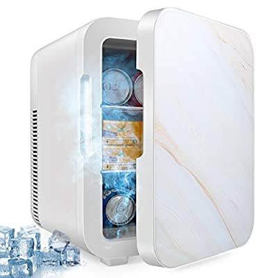 Mini Fridge with Cooler and Warmer, 12 Liter Large Capacity Portable Compact Fridge, Super Quiet In-Vehicle Freezer for Cars, Homes, Offices, and Dorms