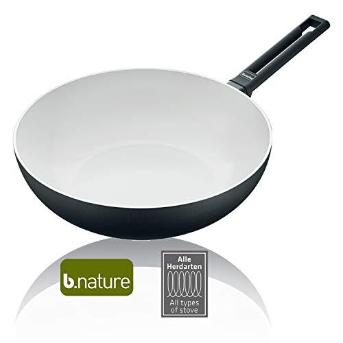 Berndes 013337 Induction Smart Wok à manche en aluminium Noir/blanc 30 cm