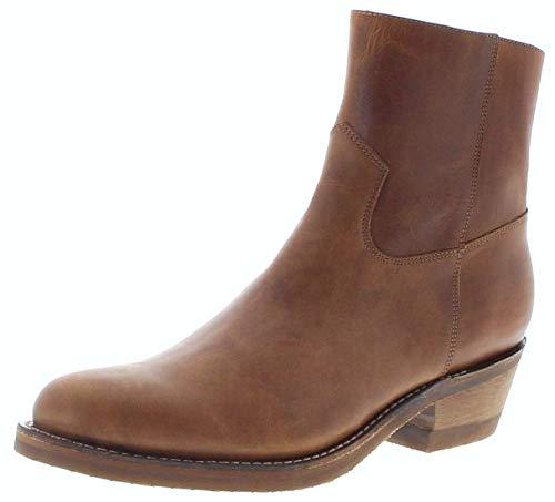 Sendra Boots Herren Cowboy Stiefelette 4984 Tang Lederstiefelette Braun 48 EU