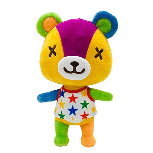 8 Inch Plush Animal Toy Animal Crossing New Plush, A Great Gift for Your Kids and Friends Cute Plush (Stitches)(Orange)