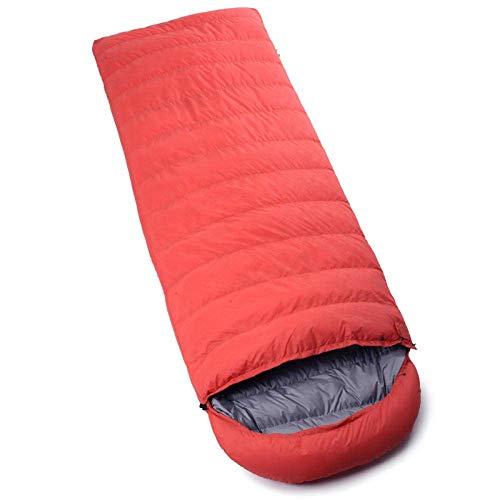 WOHAO Rechteckigen Schlafsack Ultralight Down Mumienschlaf bagThe leichteste, Umschlag Typ Ultraleicht Erwachsenen Daunenschlafsack-600G Samt (Color : 7)