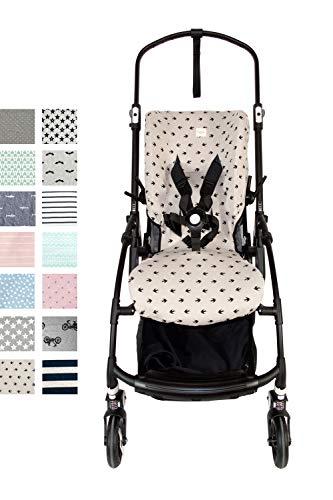 Fundas BCN  - F170/0399 - Funda de algodón para silla de paseo Bugaboo Bee 5  - Estampado Lucky Swallow