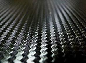 TRUE LINE Automotive Black Carbon Fiber Vinyl 3D Hood Mirror Pillar Roof Wrap Twill Weave Sheet Roll (24X60'')
