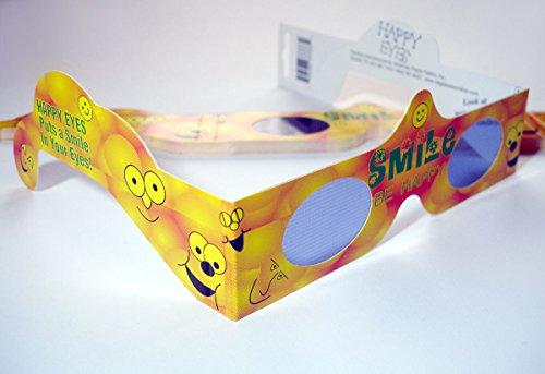 10 Stück HoloSpex 3D Brille Smile (Smiley Brille)