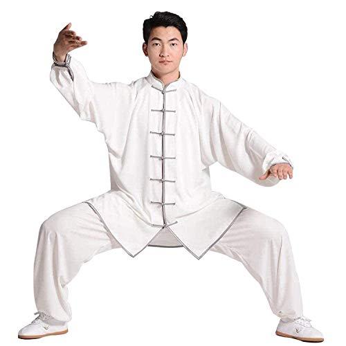GHJUH Ropa De Tai Chi para Mujer Ropa De Kung Fu para Hombres Uniforme De Wushu Traje De Artes Marciales Qi Gong Wing Chun Shaolin Kung Fu Ropa De Entrenamiento De Taekwondo UnisexWhite 2-Medium