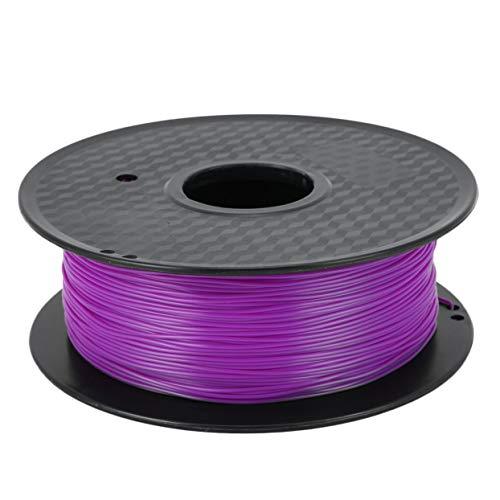 Detectoy Filamento de impresora 3D de alta resistencia de baja contracción 1,75 mm 1 kg Materiales de impresión 3D Material de consumibles estables (violeta)