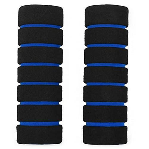 GGOOD Deportes Esponja de la Espuma del Manillar empuñadura Cubierta de Esponja de Motos Bar Antideslizante Mango Azul Bicicleta de Carreras de Espuma de la Cubierta Exterior del Manillar