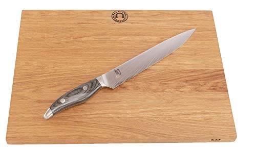 Kai Shun Nagare NDC-0704 - Cuchillo jamonero ultra afilado, hoja de 23 cm, 72 capas de acero de...