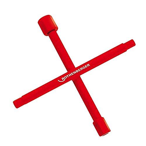 Rothenberger Sanitaer-Kreuzschluessel mit Multifunktion, 1 Stück, 351044
