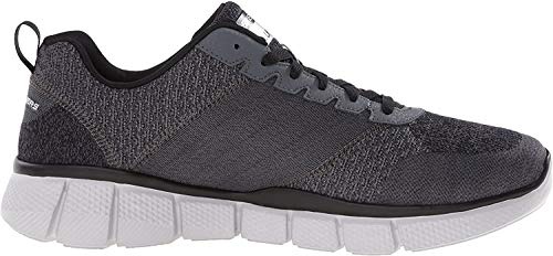 Skechers Sport Men's Equalizer 2.0 True Balance Sneaker,Grey/Black/Charcoal,10 4E US