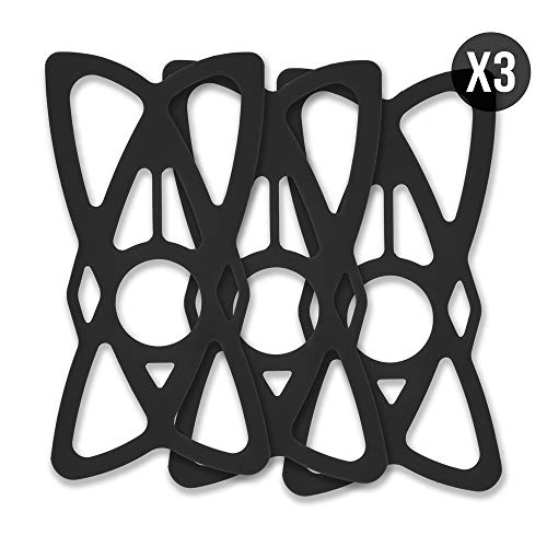 Replacement Bike Phone Mount Rubber Tether Straps Phone Bands - [Black 3-Pack] - Premium Grade Rubber. Works with Most Phones, Cases, and Bike Mounts on The Market. by TACKFORM