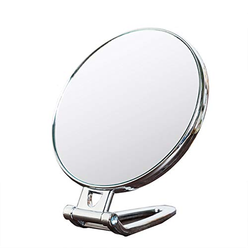 ZH1 Hand Mirrors with Handle, Perfect for Travel and Home Hand Mirror, Hand Held Mirror, Flexible Mirror As Seen on Tv,Hand Mirror for Haircut,Round