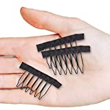 Smilco 32Pcs wig Clips, Metal Snap Wig Combs for Making Wigs (32PCS)
