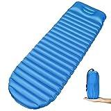 OUSPT Esterillas Auto-inflables, Esterilla Acampada Camping Colchones Hinchable Utraligero y Resistente para Mochilero, Hamaca de Viaje, Carpa y Saco de Dormir (Azul)