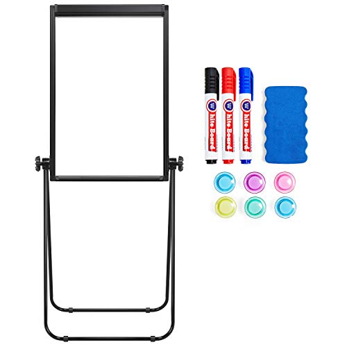 Yaheetech 24x36 Magnetic U Stand Whiteboard Double Sided Easel Stand Flipchart Easel for Office, Posters, Posters