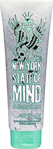 Ed Hardy Tanning New York State of Mind - DHA Free Organic Color Extending Bronzer Lotion 8.5 oz.