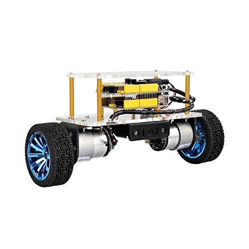 WXJHA Acryl Elektronik Prototyping-Plattform, Selbst Balancing Car Kit für Arduino Robot Kits Spielzeug DIY Smart Educational Roboter-Bausatz