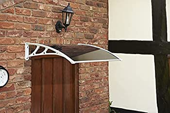 Greenhurst Auvent de Porte Teinté Blanc Easy Fit 1 m, 97 x 62 x 6 cm