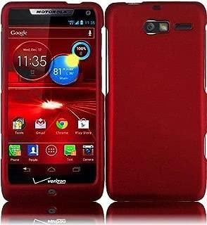 Hard Rubberized Case plus for Motorola Droid RAZR M XT907 - Red