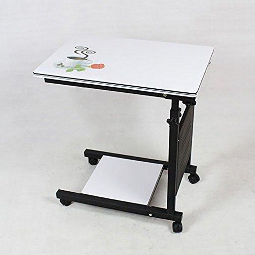 XIA Table de chevet Mobile Table Ordinateur Bureau Petite Table Table Pliante Table D'ordinateur Portable Table Paresseux Table De Levage Pliant De Stockage Hauteur réglable 60 * 40cm (Couleur : 2)