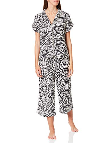 Women' Secret Short Sleeves Masculine Pyjama Pijama, Estampado Blanco, M para Mujer