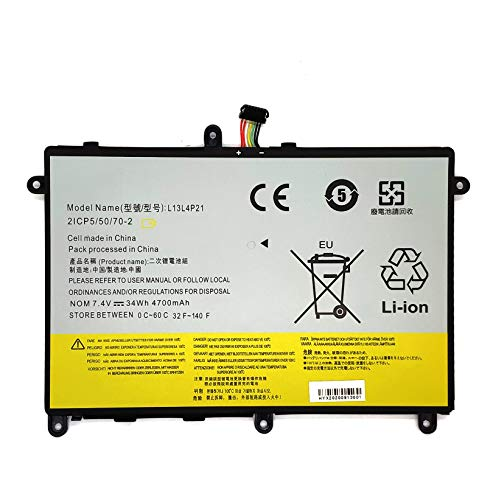 EndlessBattery L13M4P21 Replacement Laptop Battery Compatible with Lenovo IdeaPad Yoga 2 11 Series L13L4P21 121500223 121500224 F7HVR (34Wh 7.4V)