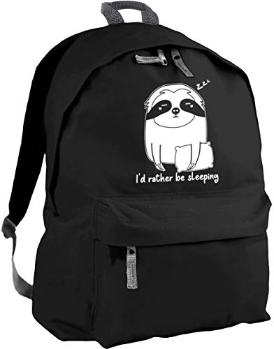 HippoWarehouse I'd Rather be Sleeping - Sloth Backpack ruck Sack Dimensions: 31 x 42 x 21 cm Capacity: 18 litres