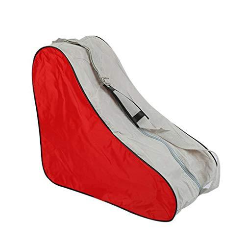Botreelife Skate-Umhängetasche Standard-Skate-Tasche Eis- / Rollschuh-Tragetasche für Erwachsene,rot