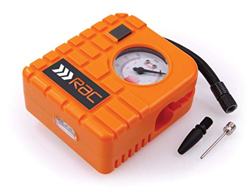 Rac HP223 12V Compact Inflator - Built-in Light - for Cars, Motorcycles, Inflatables