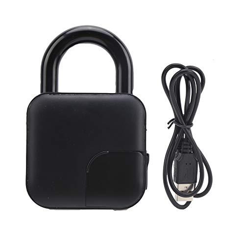 El Candado de Huellas Dactilares USB Registra 10 Huellas Dactilares, AutorizacióN Remota de La AplicacióN MóVil Que Desbloquea El Bloqueo de Bluetooth Para Casillero de Gimnasio/Equipaje/Maleta