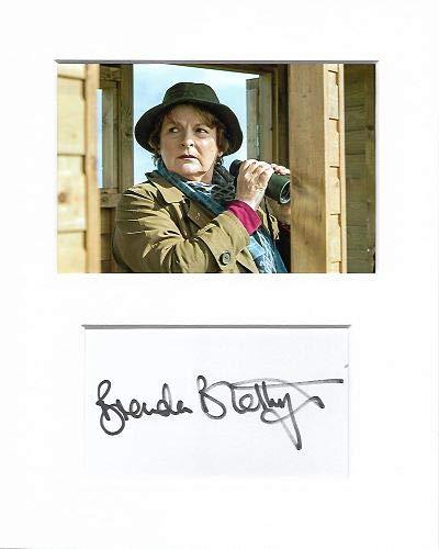 Brenda Blethyn Vera auténtica auténtica Firma autógrafo y Foto AFTAL
