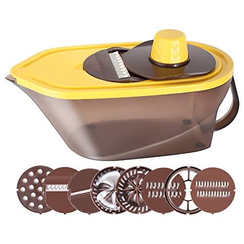 XIONGGG - Cortador de verduras multifunción para cocina, con 8 cuchillas intercambiables, para frutas, verduras