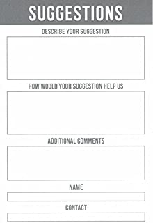 MCB Suggestion Cards for Home and Office 100 Count Suggestion Box Cards for Suggestion Boxes - Improvement Suggestion Card...