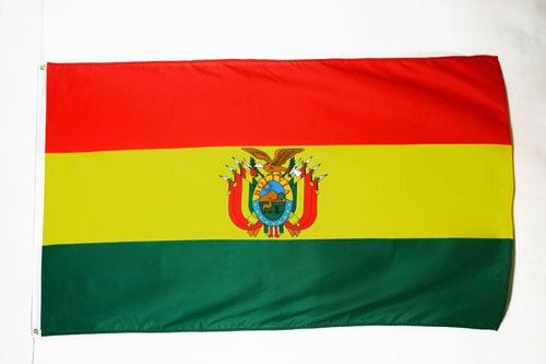 AZ FLAG Flagge BOLIVIEN 90x60cm - BOLIVIANISCHE Fahne 60 x 90 cm - flaggen Top Qualität