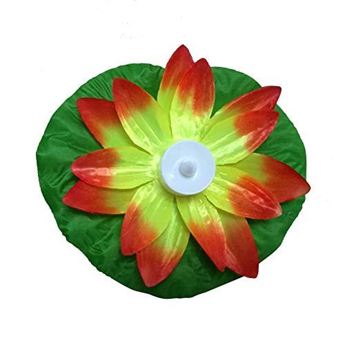 Künstliche Lotus-LED, bunt, wechselt Blumen, schwimmend, Schwimmbad, Wasserbecken
