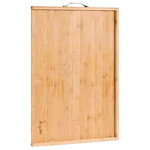 LYMUP Cortar Bordo- Panel de Hogares y Grandes Bolas de Masa hervida de Corte Junta Tarjeta de Corte y Cara Junta de bambú Material (Color : Brown, Size : 50x80cm)